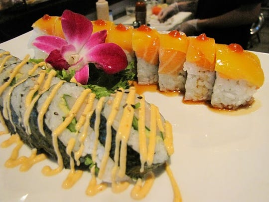 A pair of specialty rolls from Rock'n Sushi in Gateway.