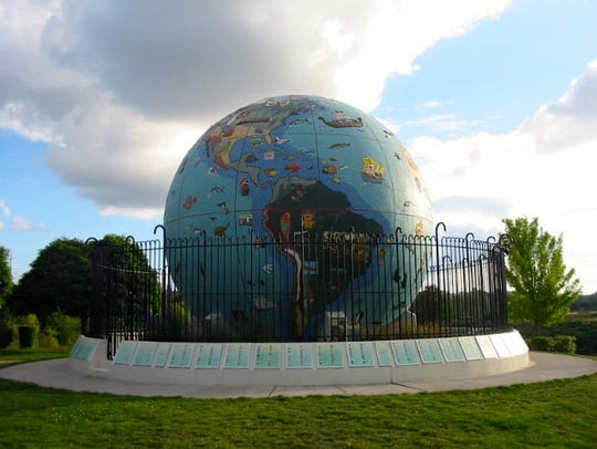 The Eco Ball at Riverfront Park.