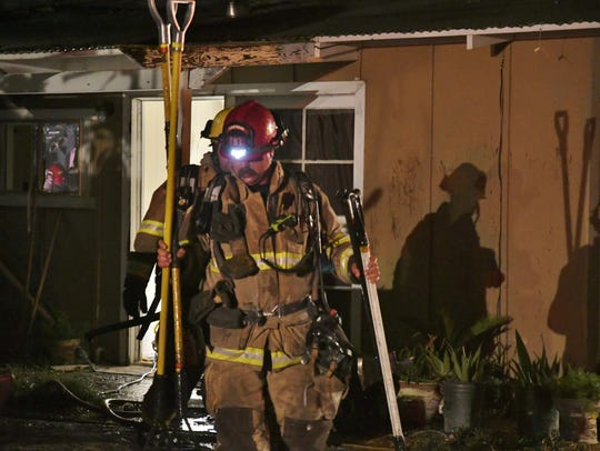 Visalia firefighters responded to a structure fire