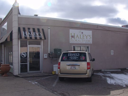 Haley's Floral Studio is located on South Third Street,next door to her sister's bakery, Hannah Marie's Bakery and Coffee Shop.