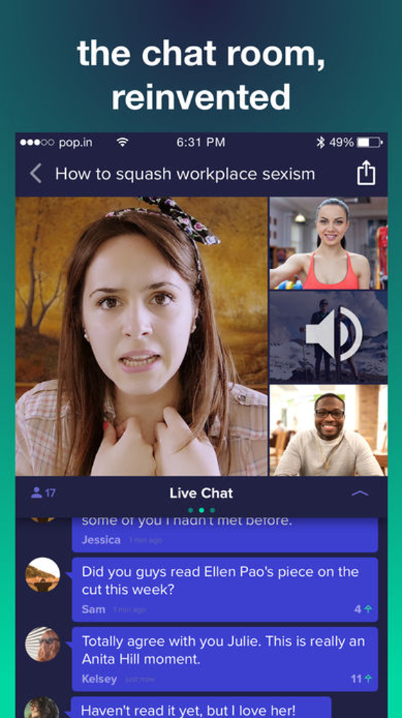 Smiletime is now pop.in, emphasizing chat rooms.