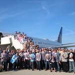'Uecker Trip' dress-up theme the latest in great Brewers airplane attire