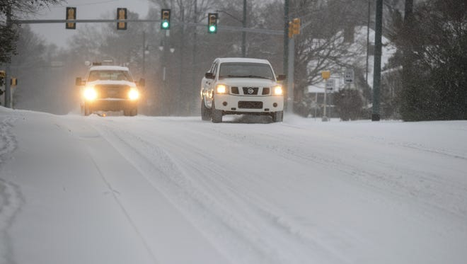 Temperatures reached below freezing in Jackson Wednesday morning covering West Tennessee in snow.