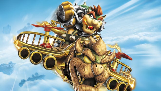 """Bowser joins in the fun on Nintendo systems in """"Skylanders Superchargers."""""""