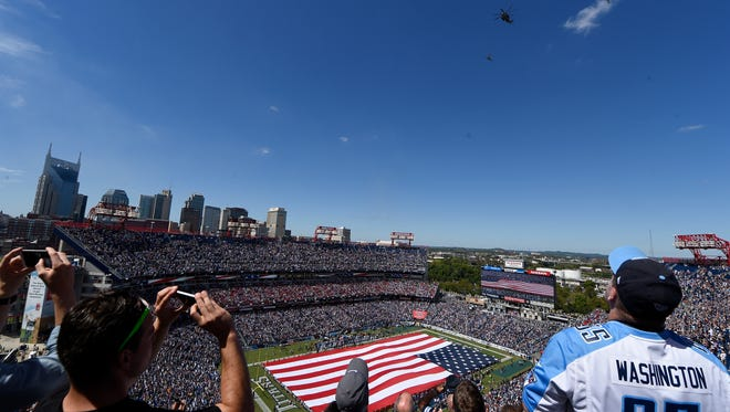 Nissan Stadium, home of the NFL's Tennessee Titans, will begin its 19th year of play this year after opening in 1999.