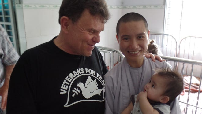 John Koehler, an Appleton veteran who recently toured Vietnam, visited an orphanage in Hanoi that cares for children with afflictions related to Agent Orange.