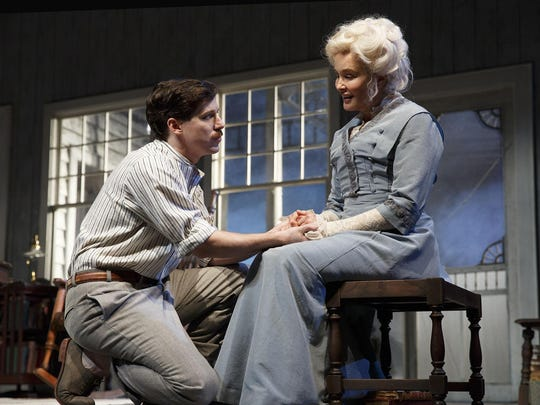 John Gallagher Jr. and Jessica Lange in a scene from