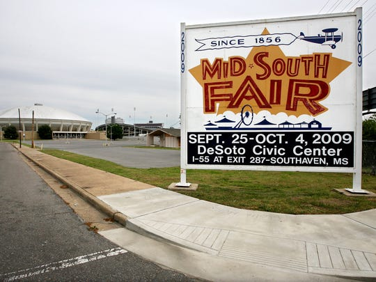 The Mid-South Fairgrounds stand virtually empty and await development after the fair itself moved to Southhaven in 2009.