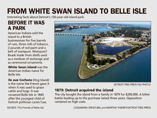 From White Swan Island to Belle Isle.