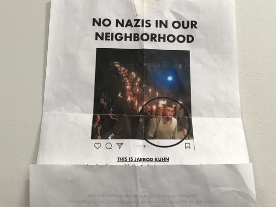 A flyer circulated around the village of Honeoye Falls