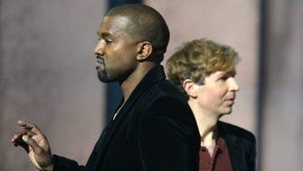 Beck accepts the Album of the Year Grammy.