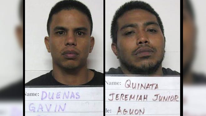 Gavin Reyes Duenas, left, and Jeremiah Junior Aguon Quinata are shown in this combined photo.