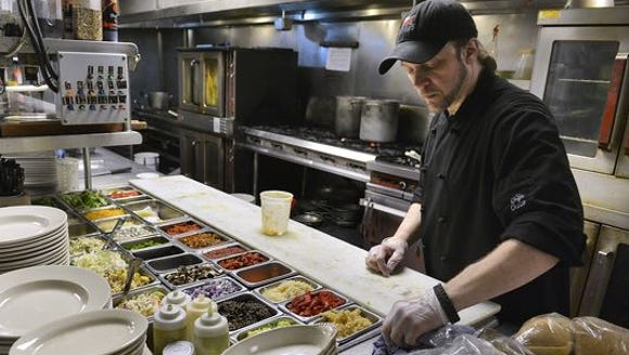 Louis Brott, executive chef at Anton's, creates a hot