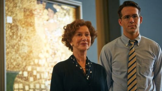 Helen Mirren portrays Maria Altmann, the woman who fought to have her family's art returned to her after being stolen by Nazis and hung for decades in an Austrian museum, in 'Woman in Gold.'
