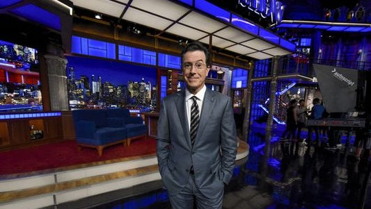 Stephen Colbert's new late-night CBS show debuts Tuesday.