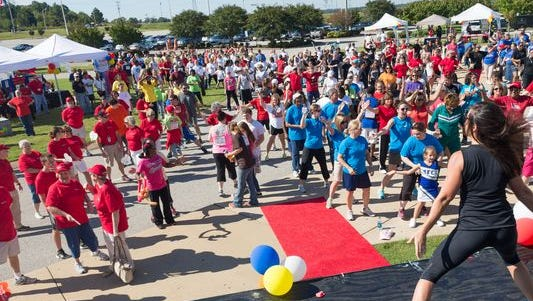 An American Heart Association Heart Walk on Sept. 28 in Tennessee.
