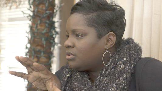 Karen Broughton questions the school district's handling of an alleged pantsing incident Oct. 1.