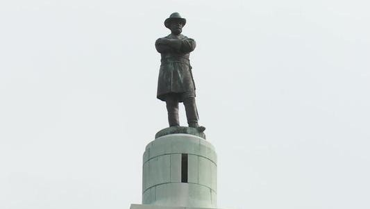 A statue of Robert E. Lee stands atop a tall column in what is now called Lee Circle. This monument and three others in the New Orleans Metro area are at the center of a city-wide discussion about a possible removal.
