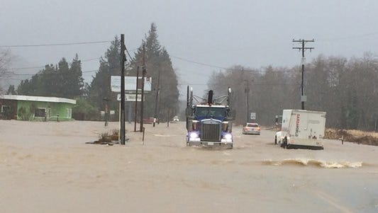 Flooding in Seaside on Thursday.