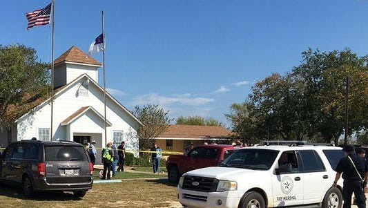 Baptist church in Sutherland Springs, Texas.