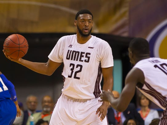 Forward Dominique Elliot at the 2015 MEAC Men's Basketball