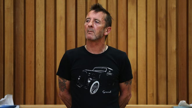 AC/DC drummer Phil Rudd appears in court on Nov.  26.