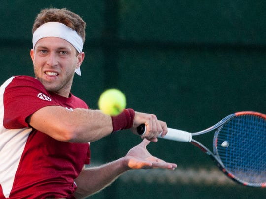South Carolina's Gabriel Friedrich against Rice during