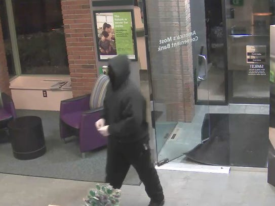 Police released this photo of the person who robbed
