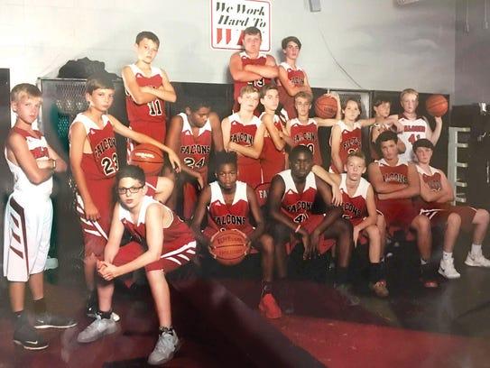 The 2017 Fairview Middle Schoo Boys Falcon Basketball