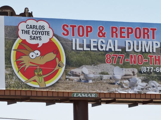 New illegal dumping message billboards appear on Interstate