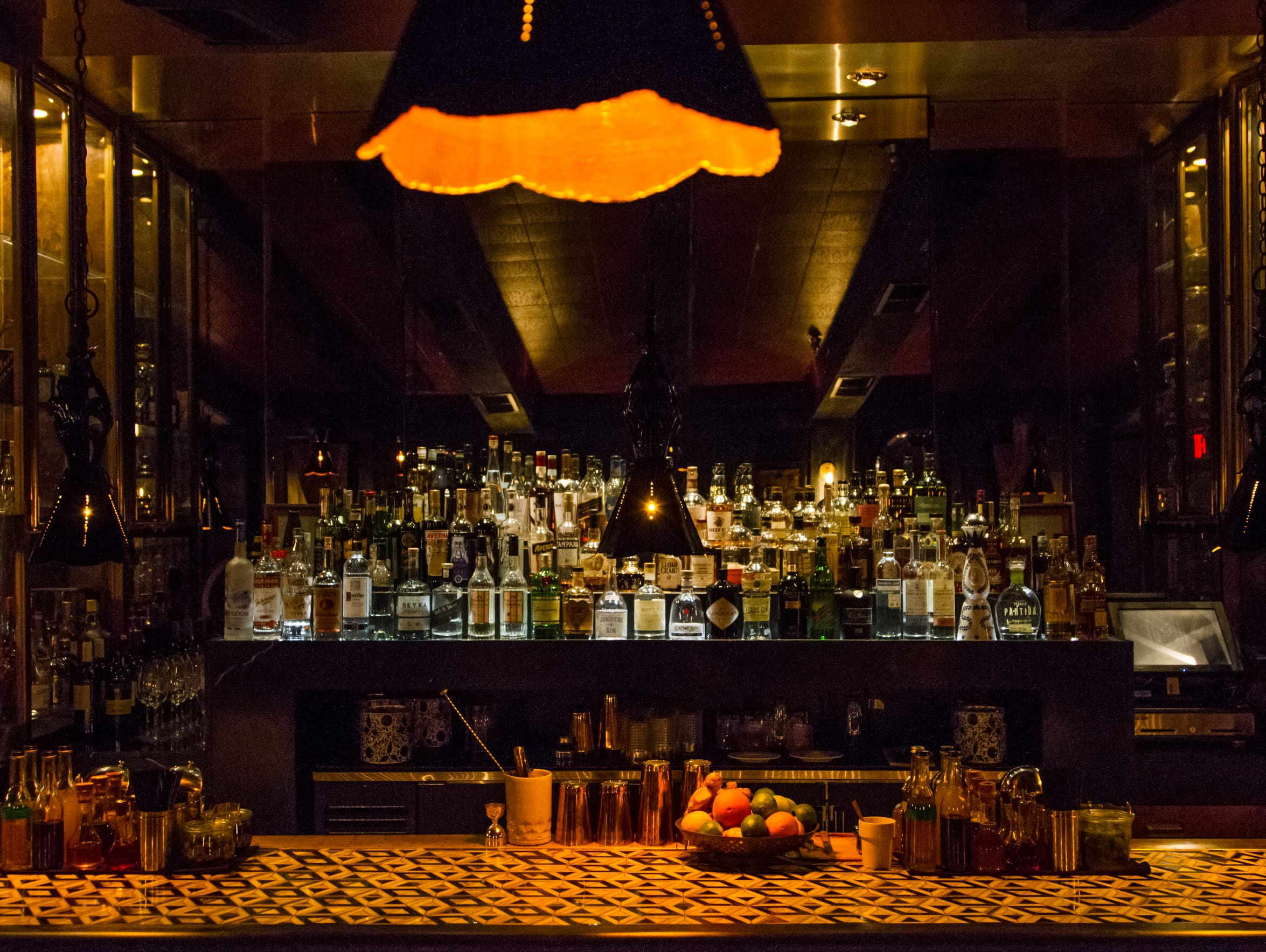 Seymour's back bar is loaded with many craft cocktail