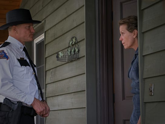 "Woody Harrelson and Frances McDormand in ""Three Billboards Outside Ebbing, Missouri."""