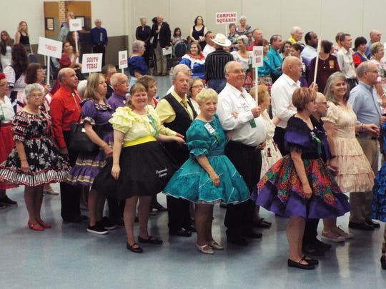 Some local club members participated in the grand march