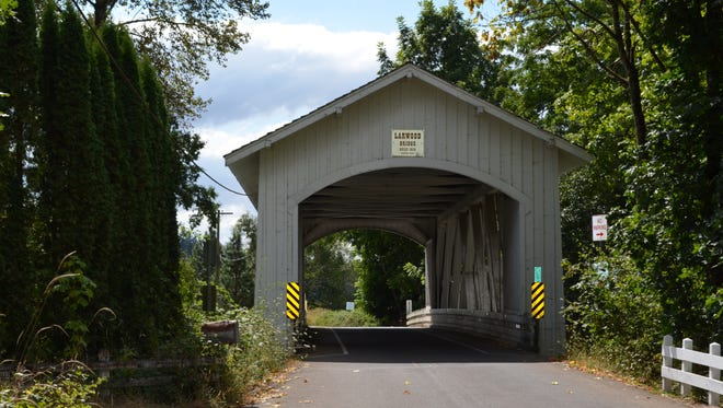 The Larwood Wayside covered bridge is one of the many attractions during the drive to Roaring River Park.