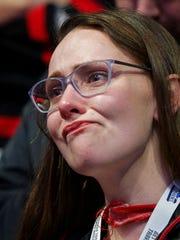 A Cincinnati fans cries after Nevada made the winning