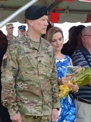 Incoming WSMR Garrison Commander Col. Dave Brown looks