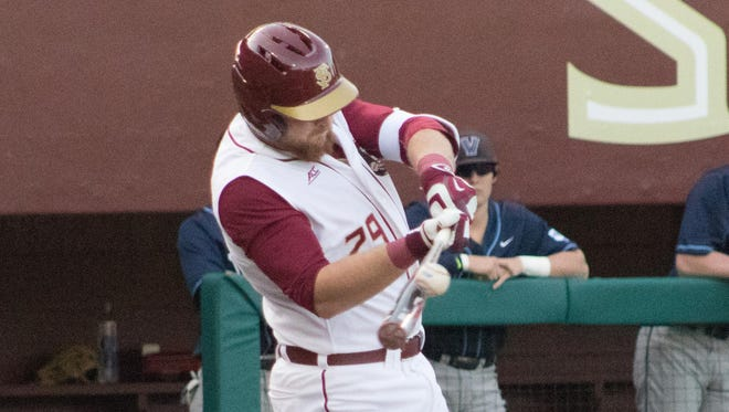 Quincy Nieporte hit three home runs over the weekend against Notre Dame.