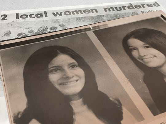 Coloradoan clippings and old photographs of Julia Mata DeLosSantos (left) and Rosemary Mata (right).