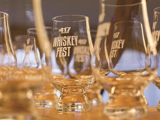Sample premium and super premium spirts, beer samples at the annual 417 Magazine Whiskey Fest on Saturday.
