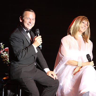 """Barbra Streisand, Frank Sinatra, and special host Jay Leno are set to share the spotlight 7:30 p.m. Saturday, Feb. 13, with a presentation of """"Barbra and Frank, The Concert that Never Was"""" at the Visalia Fox Theatre."""
