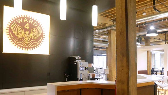The expansive Ward 4 commons area offers room for work