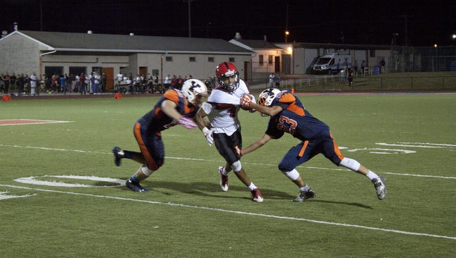 Non-conference game between William Penn Bearcats and J.P McCaskey Red Tornado from Lancaster. Friday. September 9, 16.  At William Penn field in York.