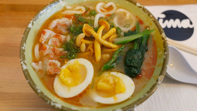 Ise-ebi udon soup is served as one of the coursed during the Detroit Free Press/Metro Chevy Dealers Top 10 Takeover of the Ima, on Tuesday, July 27, 2017, in Detroit.
