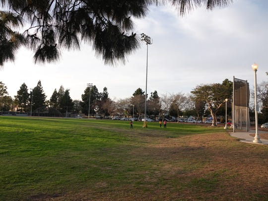 Activities continued as usual Sunday afternoon at Oxnard's Community Center Park at 801 Hobson Way. The city's first homicide of 2018 occurred overnight at the park.