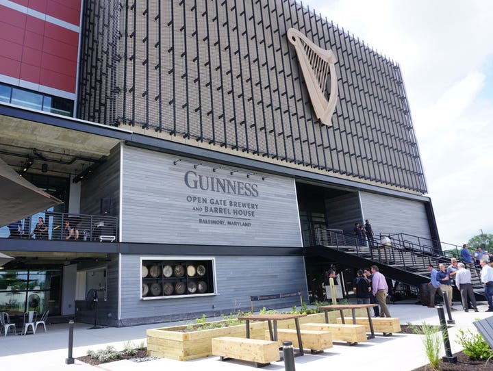 Guinness Open Gate is open to the public Monday through
