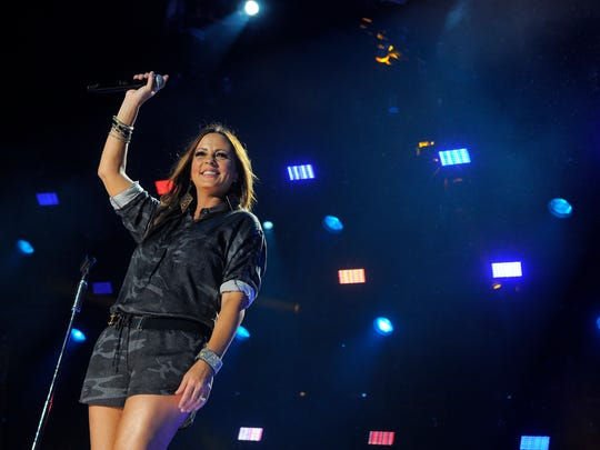 Sara Evans performs at the CMA Music Festival on June 7, 2014, at LP Field in Nashville.