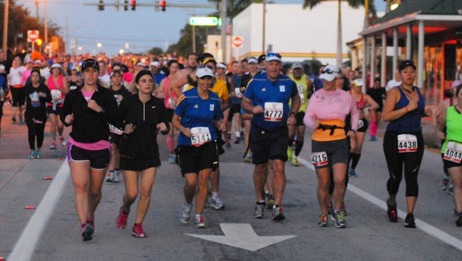 Cocoa Village will be filled with participants of the Space Coast Marathon and Half-Marathon on Sunday morning.