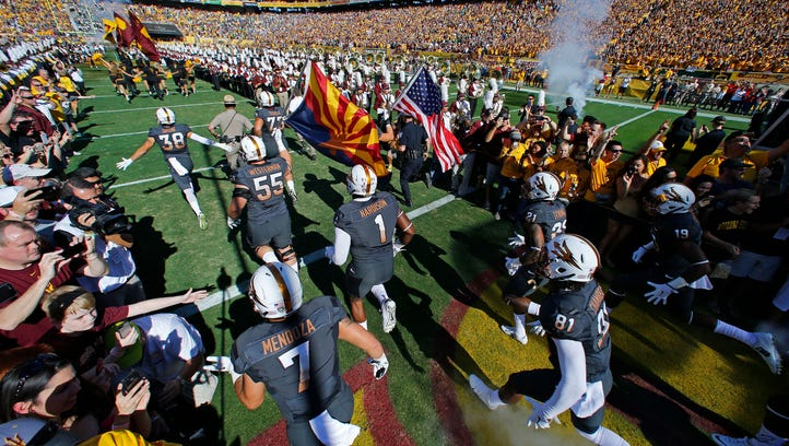 The Arizona State Sun Devils take the field against
