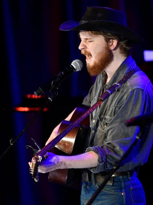 """Colter Wall performs """"Red Headed Stranger"""" at the Country Music Hall of Fame's """"Outlaws and Armadillos"""" opening concert May 25, 2018, in Nashville."""