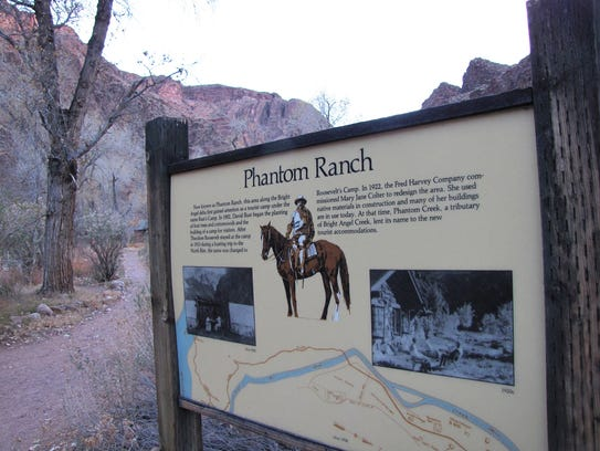 President Theodore Roosevelt camped at Phantom Ranch
